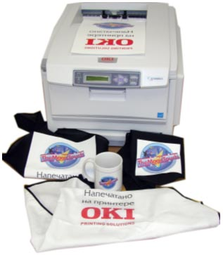 OKI C5950 LED color printer for thermal transfer